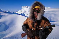 Inuit hunter Simon Idlout, Resolute, Nunavut, Canada