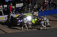 Nov. 1, 2009; Talladega, AL, USA; NASCAR Sprint Cup Series driver Jimmie Johnson pits during the Amp Energy 500 at the Talladega Superspeedway. Mandatory Credit: Mark J. Rebilas-