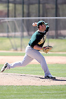 Trey Barham, Oakland Athletics 2010 minor league spring training..Photo by:  Bill Mitchell/Four Seam Images.