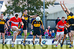 Barry O'Sullvian Dingle in action against Brian Looney of Dr. Crokes during the Kerry County Senior Club Football Championship Final match between Dr Crokes and Dingle at Austin Stack Park in Tralee, Kerry on Sunday.