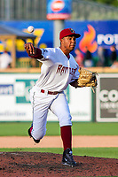 Wisconsin Timber Rattlers pitcher Miguel Sanchez (10) during game one of a Midwest League doubleheader against the Kane County Cougars on June 23, 2017 at Fox Cities Stadium in Appleton, Wisconsin.  Kane County defeated Wisconsin 4-3. (Brad Krause/Krause Sports Photography)