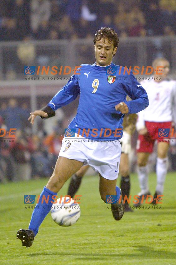 Rieti 19 Novembre 2003 Qualificazioni Campionato Europeo Under 21<br /> Italia Danimarca Under 21 0-0<br /> Alberto Gilardino<br /> Foto Andrea Staccioli Insidefoto