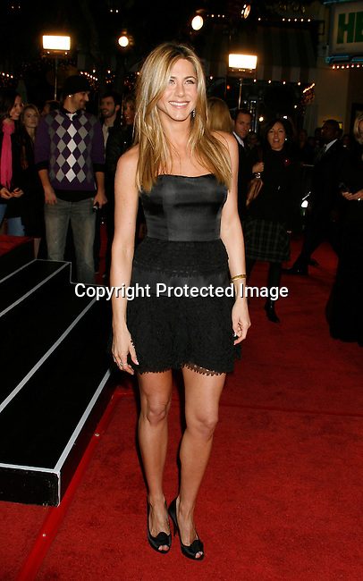 "WESTWOOD, CA. - December 11: Actress Jennifer Aniston arrives at the Los Angeles premiere of ""Marley & Me"" on December 11, 2008 in Los Angeles, California."
