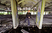 St Peter's Seminary - Cardross near Dumbarton - Angus XXXX in the main area of the property - Picture by Donald MacLeod - 5.08.11 - 07702 319 738 - www.donald-macleod.com