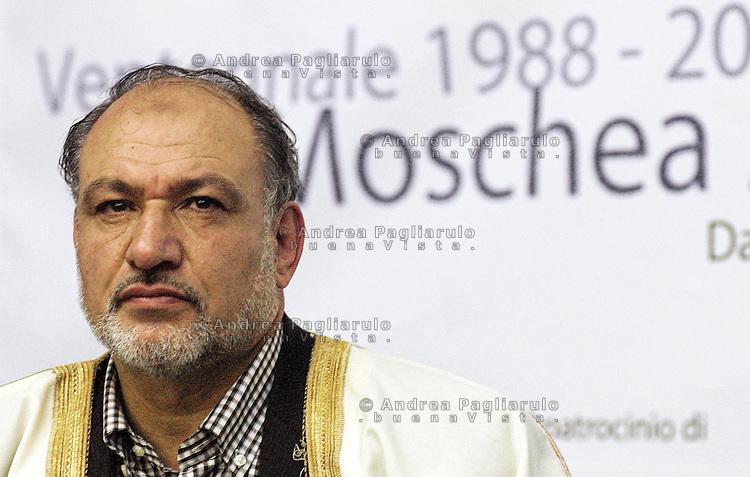 Segrate (MI) 30/10/08.Abu Shwaima, leader religioso della moschea di Segrate..© Andrea Pagliarulo/Buenavista