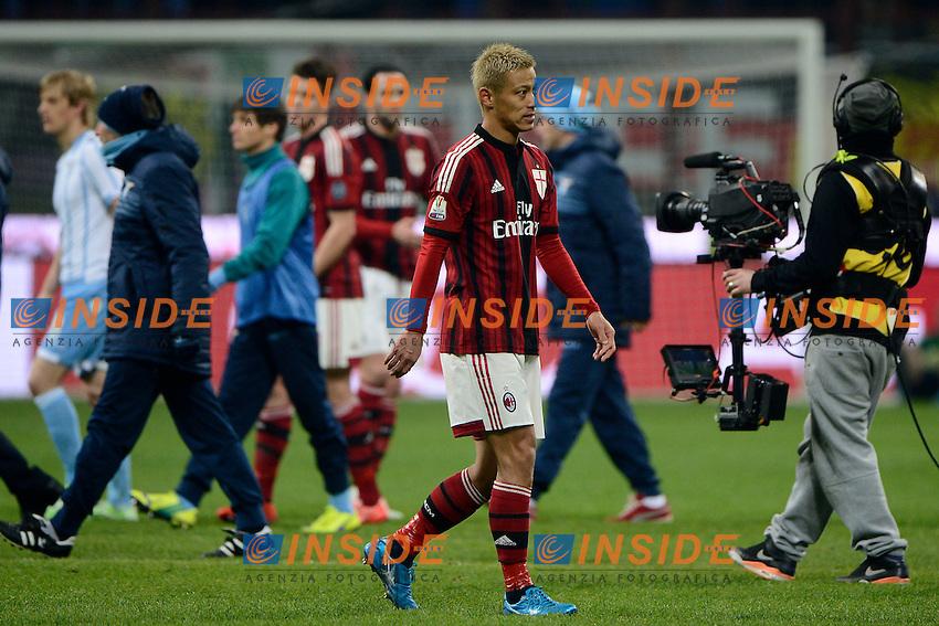 Keisuke Honda Milan<br /> Milano 27-01-2015 Stadio Giuseppe Meazza - Football Calcio Coppa Italia Milan - Lazio. Foto Giuseppe Celeste / Insidefoto