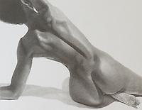 Yvonne 3 ~ Graphite on paper 10.2 x 13.2 inch (25.91 x 33.53 cm)