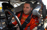 Feb 10, 2007; Daytona, FL, USA; Nascar Nextel Cup driver Johnny Sauter (70) during practice for the Daytona 500 at Daytona International Speedway. Mandatory Credit: Mark J. Rebilas