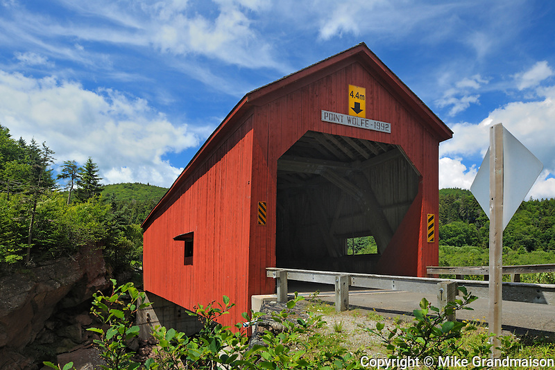 Point Wolfe Covered bridge<br /> Fundy National Park<br /> New Brunswick<br /> Canada