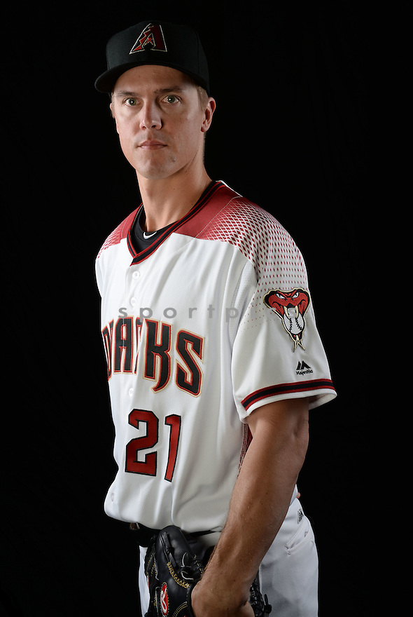 Arizona Diamondbacks Zack Greinke (21) during photo day on February 28, 2016 in Scottsdale, AZ.