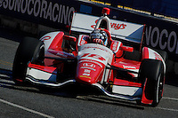 BALTIMORE - AUGUST 31: Justin Wilson during practice for the IZOD IndyCar Series  Baltimore Grand Prix at the Baltimore Temporary Street Course on August 31 , 2012 in Baltimore, Maryland. 08/31/12. (Ryan Lasek/Eclipse Sportswire)