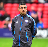 Chesterfield manager Jack Lester during the pre-match warm-up<br /> <br /> Photographer Andrew Vaughan/CameraSport<br /> <br /> The EFL Sky Bet League Two - Lincoln City v Chesterfield - Saturday 7th October 2017 - Sincil Bank - Lincoln<br /> <br /> World Copyright &copy; 2017 CameraSport. All rights reserved. 43 Linden Ave. Countesthorpe. Leicester. England. LE8 5PG - Tel: +44 (0) 116 277 4147 - admin@camerasport.com - www.camerasport.com