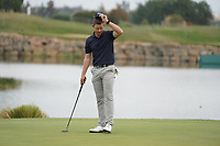 Brandon Stone (RSA) on the 18th during Round 4 of the Portugal Masters, Dom Pedro Victoria Golf Course, Vilamoura, Vilamoura, Portugal. 27/10/2019<br /> Picture Andy Crook / Golffile.ie<br /> <br /> All photo usage must carry mandatory copyright credit (© Golffile | Andy Crook)