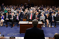"United States Attorney General Jeff Sessions is sworn-in to give testimony before the US Senate Select Committee on Intelligence to  ""examine certain intelligence matters relating to the 2016 United States election"" on Capitol Hill in Washington, DC on Tuesday, June 13, 2017.  In his prepared statement Attorney General Sessions said it was an ""appalling and detestable lie"" to accuse him of colluding with the Russians. Photo Credit: Alex Brandon/CNP/AdMedia"
