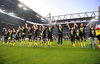 Fussball 1. Bundesliga :  Saison   2010/2011   32. Spieltag  21.04.2012 Borussia Dortmund - Borussia Moenchengladbach Borussia Dortmund Jubel nach dem SIEG zur Deutschen Meisterschaft