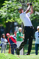 Jimmy Walker (USA) watches his tee shot on 7 during round 2 of the World Golf Championships, Mexico, Club De Golf Chapultepec, Mexico City, Mexico. 3/3/2017.<br /> Picture: Golffile | Ken Murray<br /> <br /> <br /> All photo usage must carry mandatory copyright credit (&copy; Golffile | Ken Murray)
