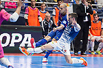 Barcelona Lassa Carlos Vagnerand R. Renov. Zaragoza Oscar Villanueva during Futsal Spanish Cup 2018 at Wizink Center in Madrid , Spain. March 16, 2018. (ALTERPHOTOS/Borja B.Hojas)