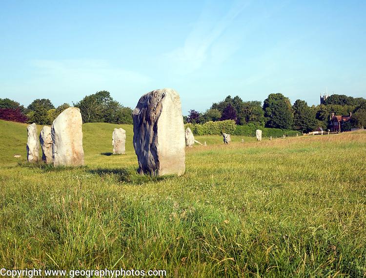 Standing stones of the henge at Avebury, Wiltshire, England