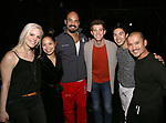 "Katie Rose Clarke, Eva Noblezada, Nicholas Christopher, Alistair Brammer, Devin Haw and Jon Jon Briones during The Opening Night Actors' Equity Gypsy Robe Ceremony honoring Catherine Ricafort for the New Broadway Production of  ""Miss Saigon""  at the Broadway Theatre on March 23, 2017 in New York City"