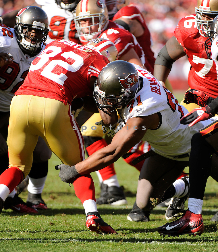 MICHAEL BENNETT, of the Tampa Bay Buccaneers, in action during the Bucs game against the San Francisco 49ers on October 9, 2011 at Candlestick Park in San Francisco, CA. The 49ers beat the Buccaneers 48-3.