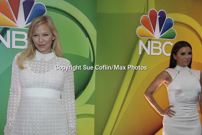 Kelli Giddish (AMC)- Law & Order SVU & Eva Longoria - Hot & Bothered - NBC Upfront at Radio City, New York City, New York on May 11, 2015 (Photos by Sue Coflin/Max Photos)