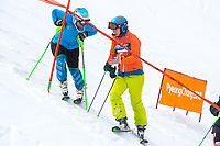 Day 9 / Women's SL / Melissa Perrine w/guide Christian Geiger (AUS)<br /> PyeongChang 2018 Paralympic Games<br /> Australian Paralympic Committee<br /> PyeongChang South Korea<br /> Sunday March 18th 2018<br /> &copy; Sport the library / Jeff Crow
