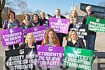 Teachers and supporters from Killarney Community College on protest in Tuesday front row l-r: Marie O'Riordan, Lorraine Cosgrove, kerry McCarthy. Back row: Dorothy Byrne, Anne Marie Campbell, Kathleen Keating, Lillian Liston, Sean O'Connell, Dympta Healy and John Keane