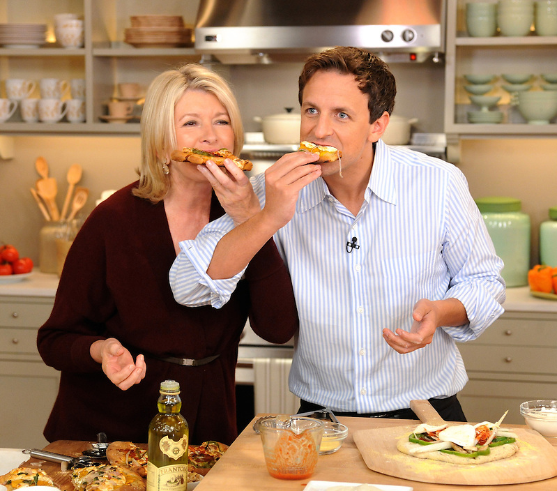 "Martha Stewart and Seth Meyers are seen during the production of ""The Martha Stewart Show"" in New York on Tuesday, September 28, 2010. Photo: David M. Russell/The Martha Stewart Show"