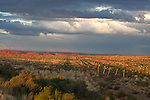 Dramatic, stormy skies over southwestern UTAH