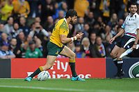 Adam Ashley-Cooper of Australia celebrates scoring the opening try during the Quarter Final of the Rugby World Cup 2015 between Australia and Scotland - 18/10/2015 - Twickenham Stadium, London<br /> Mandatory Credit: Rob Munro/Stewart Communications