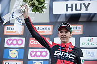 Dylan Teuns on the podium after finishing a strong 3th in his first ever Fl&egrave;che<br /> <br /> 81st Fl&egrave;che Wallonne 2017 (1.UWT)<br /> 1day race: Binche &gt; Huy 200,5KM