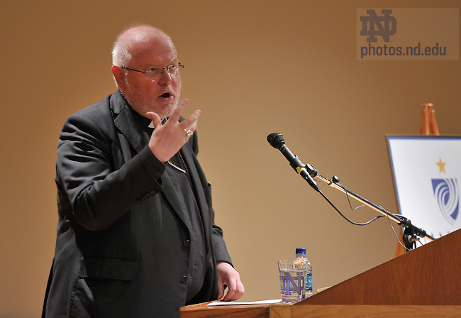 Reinhard Marx, Archbishop of Munich and Freising, gives the 2010 Terrence R. Keeley Vatican Lecture at the University of Notre Dame's Hesburgh Institute April 7, 2010...Photo by Matt Cashore/University of Notre Dame