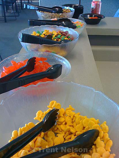 snacks, press room at miller motorsports park