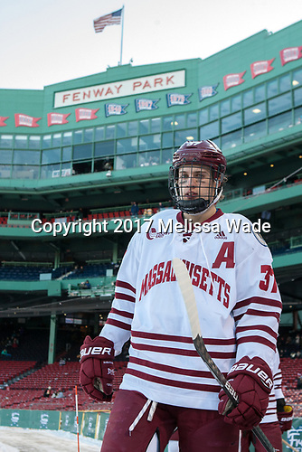 William Lagesson (UMass - 37) - The Boston University Terriers defeated the University of Massachusetts Minutemen 5-3 on Sunday, January 8, 2017, at Fenway Park in Boston, Massachusetts.The Boston University Terriers defeated the University of Massachusetts Minutemen 5-3 on Sunday, January 8, 2017, at Fenway Park.
