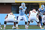 24 November 2012: UNC's Kevin Reddick (48). The University of North Carolina Tar Heels played the University of Maryland Terrapins at Kenan Memorial Stadium in Chapel Hill, North Carolina in a 2012 NCAA Division I Football game. UNC won 45-38.