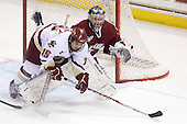 Joe Whitney (BC - 15), Paul Dainton (UMass - 31) - The Boston College Eagles defeated the University of Massachusetts-Amherst Minutemen 6-5 on Friday, March 12, 2010, in the opening game of their Hockey East Quarterfinal matchup at Conte Forum in Chestnut Hill, Massachusetts.