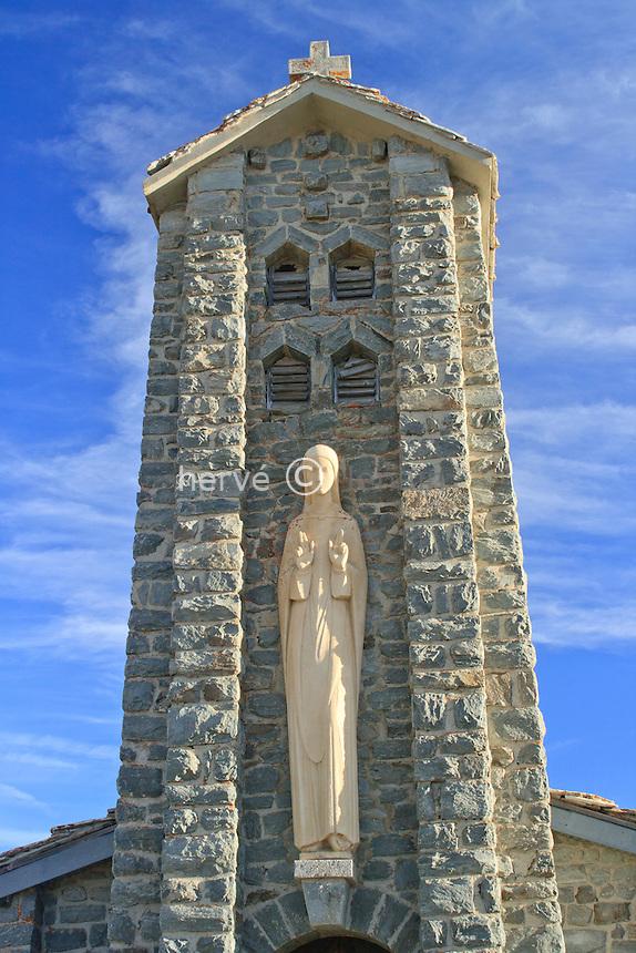 France, Savoie (73), col de l'Iseran, chapelle Notre-Dame de l'Iseran datée de 1939 // France, Savoie, pass of Iseran, chapel Notre Dame de l'Iseran dated 1939