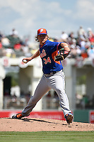 New York Mets pitcher Noah Syndergaard (34) during a Spring Training game against the Boston Red Sox on March 16, 2015 at JetBlue Park at Fenway South in Fort Myers, Florida.  Boston defeated New York 4-3.  (Mike Janes/Four Seam Images)
