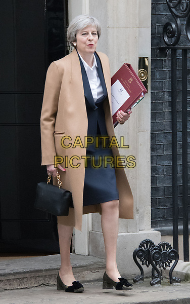 LONDON, ENGLAND - MARCH 29: Theresa May in No.10 Downing Street on day she signed the letter that triggered Brexit, formally beginning the UK's departure from the European Union, and giving official notice under Article 50 of the Lisbon Treaty<br /> CAP/JOR<br /> &copy;JOR/Capital Pictures