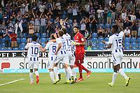 Torjubel Jan Mauersberger (KSC) beim 1:2 - FSV Frankfurt vs. Karlsruher SC, Frankfurter Volksbank Stadion