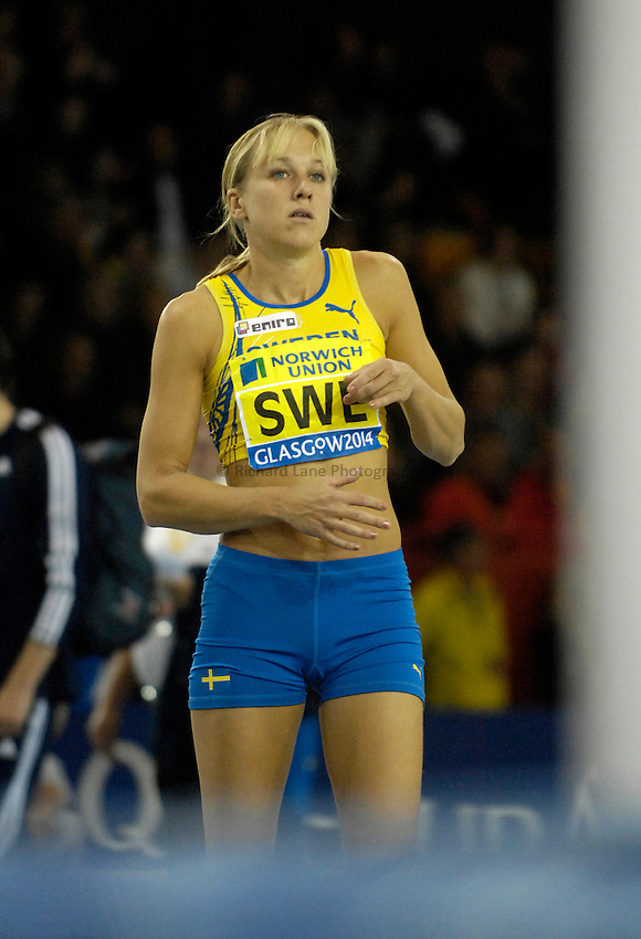 Photo: Jed Wee...Norwich Union International, Glasgow. 27/01/2007.....Sweden's Kajsa Bergqvist in the womens high jump.