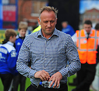 Macclesfield Town manager Mark Yates<br /> <br /> Photographer Andrew Vaughan/CameraSport<br /> <br /> The EFL Sky Bet League One - Macclesfield Town v Lincoln City - Saturday 15th September 2018 - Moss Rose - Macclesfield<br /> <br /> World Copyright &copy; 2018 CameraSport. All rights reserved. 43 Linden Ave. Countesthorpe. Leicester. England. LE8 5PG - Tel: +44 (0) 116 277 4147 - admin@camerasport.com - www.camerasport.com