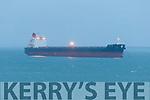 Enormous cargo ship anchored of Brandon pier