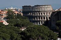 Il Colosseo a Roma.The Colosseum in Rome .