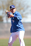 Luis Cruz    of Los Angeles Dodgers,during Spring Trainig 2013..Camelback Ranch  in Arizona. February 25, 2013