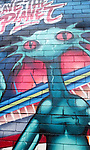 "Aliens ""Save the Planet"" grafitti in Newtown, Sydney, Australia"