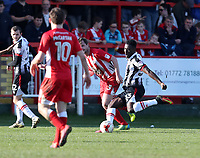Akwasi Asante of Grimsby Town  scores the first goal of the game 0-1 to Grimsby Town <br /> during the Sky Bet League 2 match between Accrington Stanley and Grimsby Town at the Fraser Eagle Stadium, Accrington, England on 25 March 2017. Photo by Tony  KIPAX / PRiME Media Images.