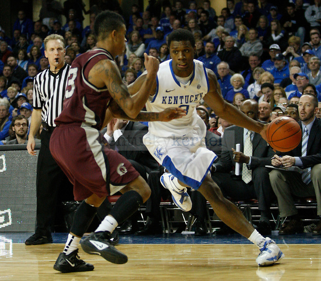 UK's Terrence Jones drives to the basket against Arkansas - Little Rock at Freedom Hall on Tuesday, Jan. 3, 2012. Photo by Scott Hannigan | Staff