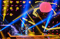 ATENCAO EDITOR: FOTO EMBARGADA PARA VEICULOS INTERNACIONAIS. - RIO DE JANEIRO, RJ,19 DE SETEMBRO 2012 - PREMIO MULTISHOW 2012- Thiaguinho na cerimonia de entrega do Premio Multishow  na noite desta terca dia 18 de setembro, no HSBC Arena, na Barra da Tijuca, zona oestedo Rio de Janeiro.(FOTO: MARCELO FONSECA / BRAZIL PHOTO PRESS).