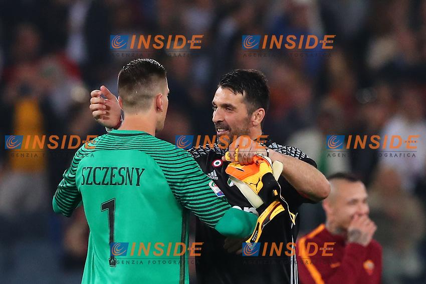 Wojciech Szczesny Roma e Gianluigi Buffon Juventus<br /> Roma 14-05-2017  Stadio Olimpico <br /> Campionato Serie A AS Roma - Juventus<br /> Foto Cesare Purini / Insidefoto